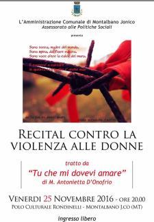 Recital contro la violenza alle donne - Matera