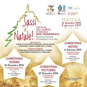 """SASSI """"di"""" NATALE FESTIVAL DELL'ALBERO DI NATALE NON TRADIZIONALE - Matera"""