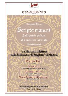 Scripta Manent - Matera