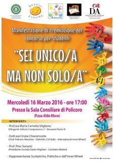 Sei Unico/a ma non solo/a - 16 Marzo 2016 - Matera