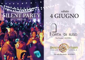 Silent party - 4 giugno 2016 - Matera