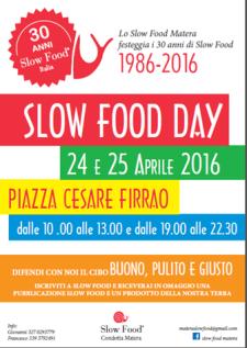 SLOW FOOD DAY 1986-2016 - Matera