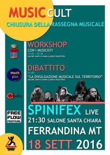 SPINIFEX LIVE IN FERRANDINA - 18 settembre 2016 - Matera