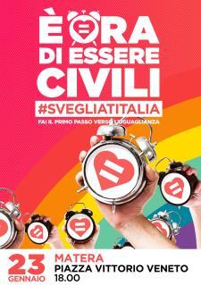"""""""SVEGLIA MATERA. E' ORA DI ESSERE CIVILI!"""" - 23 Gennaio 2016 - Matera"""