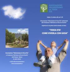 TERZA ETA' - COME VIVERLA CON GIOIA - 22 ottobre 2016 - Matera