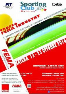 """Terzo Torneo Nazionale Open """"INDOOR"""" Maschile e Femminile - Trofeo """"FEMA INDUSTRY"""" - Matera"""