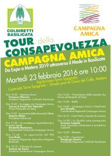Tour della consapevolezza Campagna Amica - 23 Febbraio 2016 - Matera