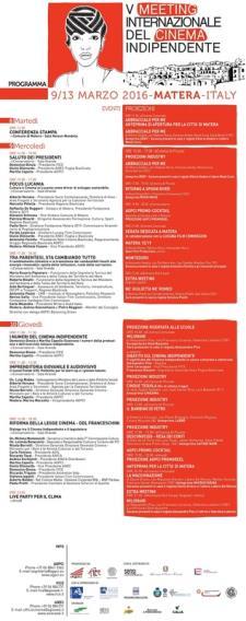 V MEETING INTERNAZIONALE DEL CINEMA INDIPENDENTE - Matera