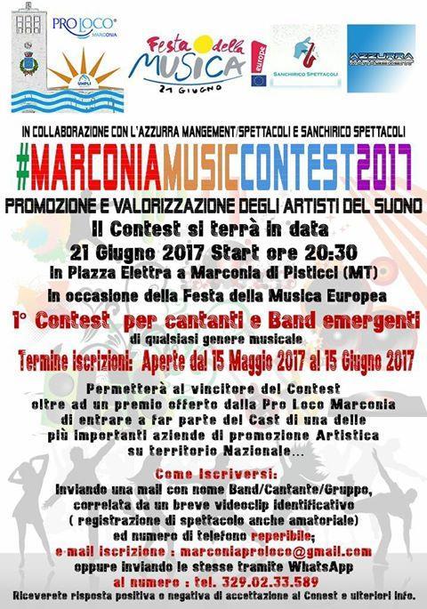 1° contest per cantanti e Band emergenti
