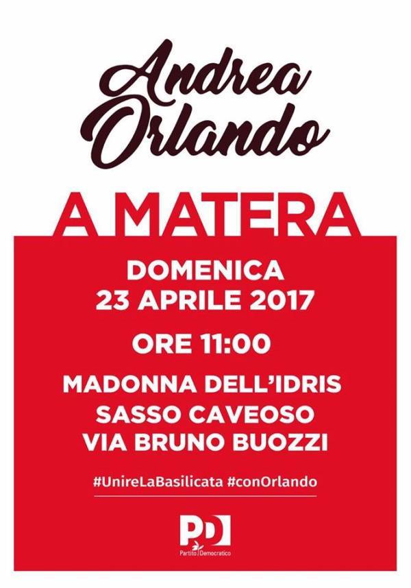 Andrea Orlando a Matera