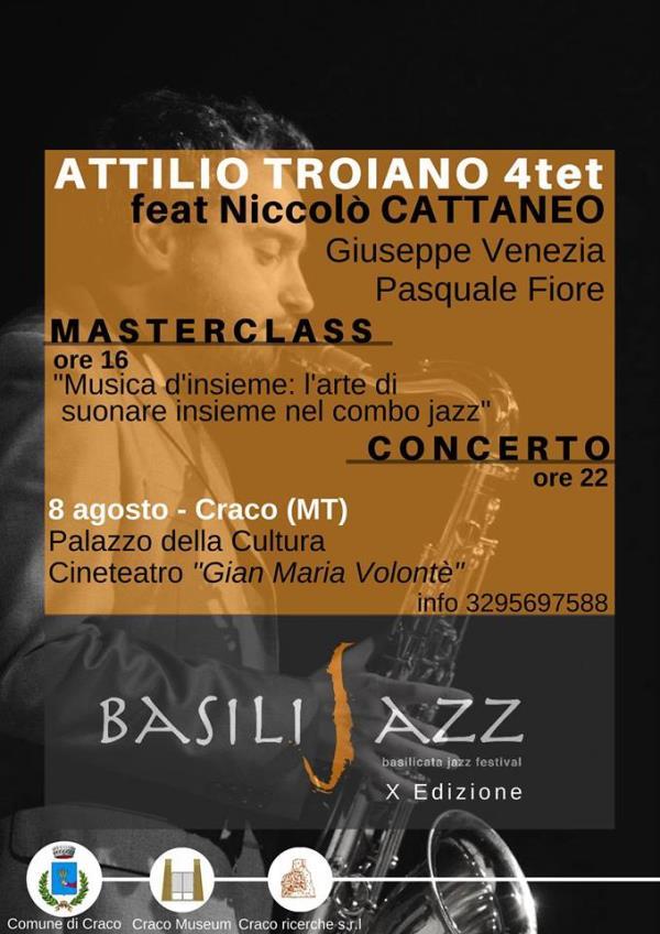 Attilio Troiano 4tet feat. Niccolò Cattaneo live  - 8 Agosto 2017