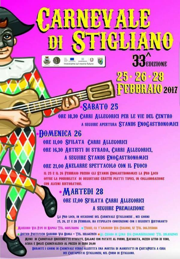 Carnevale di Stigliano 33´ edizione