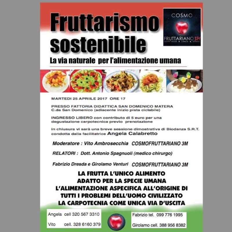 Convegno sulla corretta alimentazione e fruttarismo sostenibile