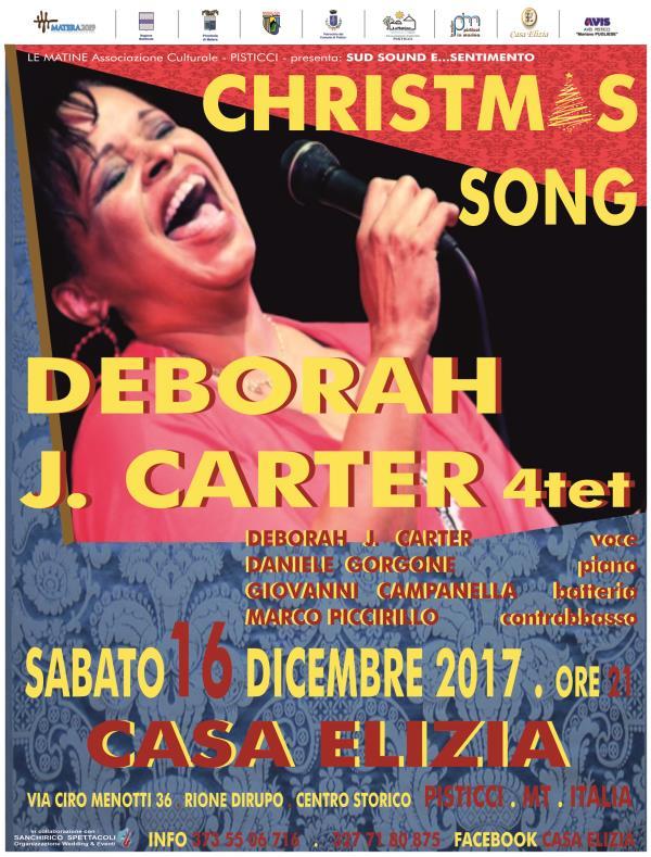 DEBORAH J. CARTER 4tet Christmas song - 16 dicembre 2017