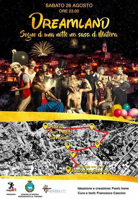 """DREAMLAND """"sogno di una notte nei Sassi di Matera""""  - 26 Agosto 2017"""