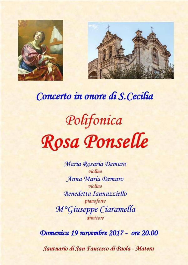Festa di Santa Cecilia - Patrona dei musicisti - dal 19 al 22 novembre 2017