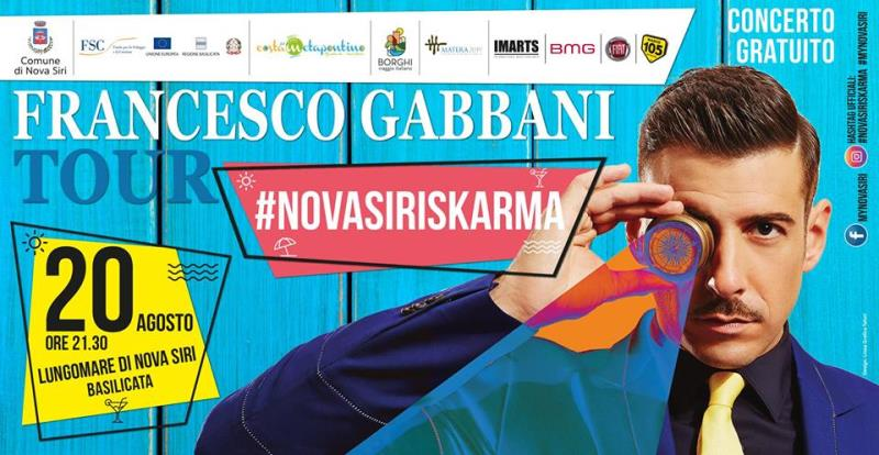 Francesco Gabbani Tour - 20 Agosto 2017