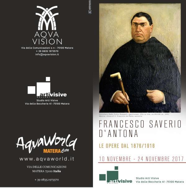 FRANCESCO SAVERIO D´ANTONA Opere dal 1876 al 1918 - dal 10 al 24 novembre 2017