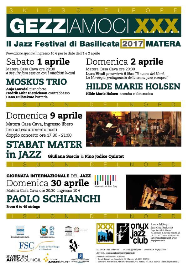 Gezziamoci 2017 - Il Jazz Festival di Basilicata XXX edizione