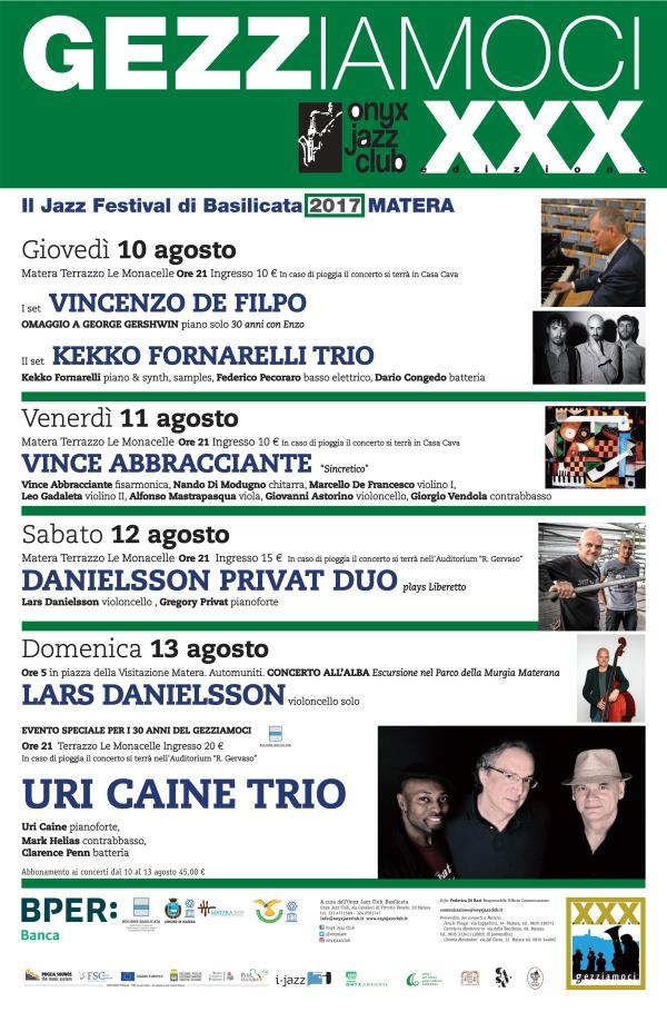 Gezziamoci 2017 - Il Jazz Festival di Basilicata