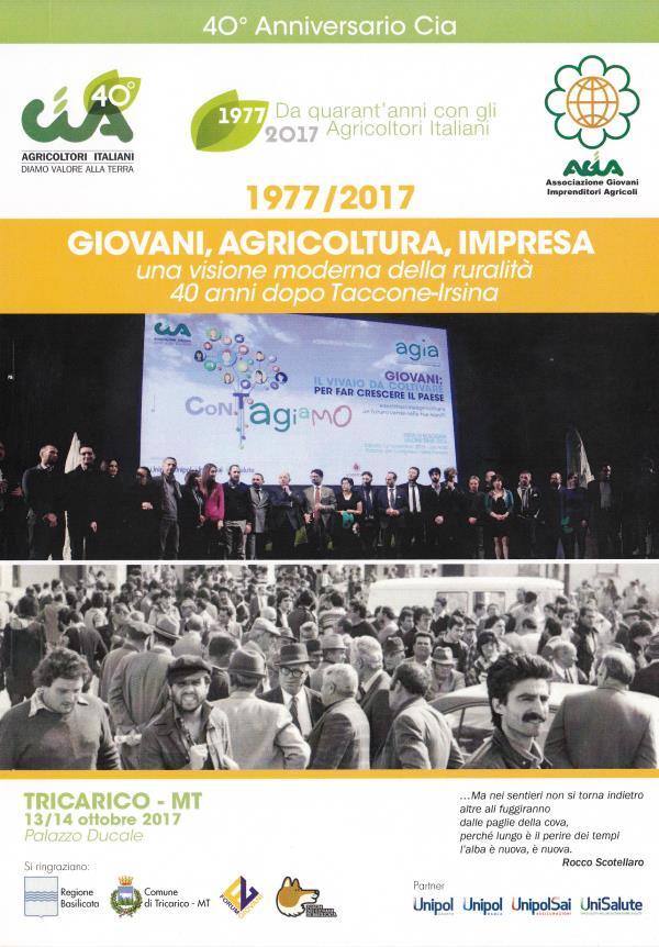Giovani, Agricoltura, Impresa - 13 e 14 ottobre 2017