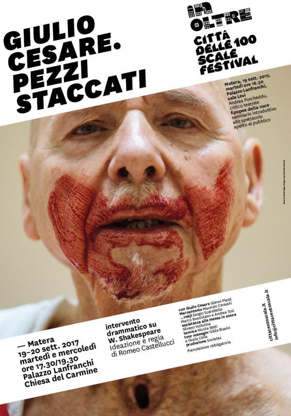 Giulio Cesare. Pezzi staccati - 19 e 20 settembre 2017
