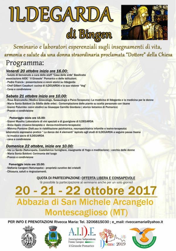Ildegarda di Bingen - dal 20 al 22 ottobre 2017