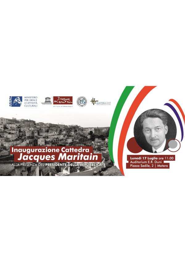 Inaugurazione Cattedra Jacques Maritain