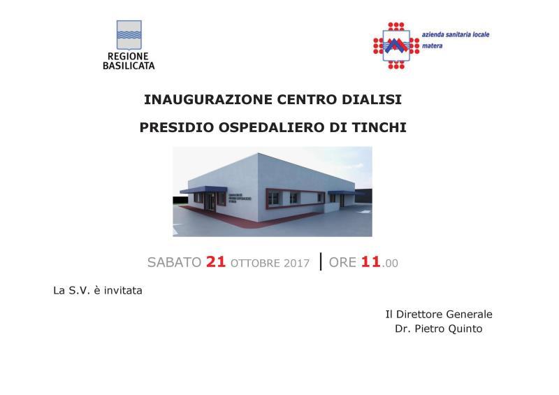 INAUGURAZIONE CENTRO DIALISI - 21 ottobre 2017