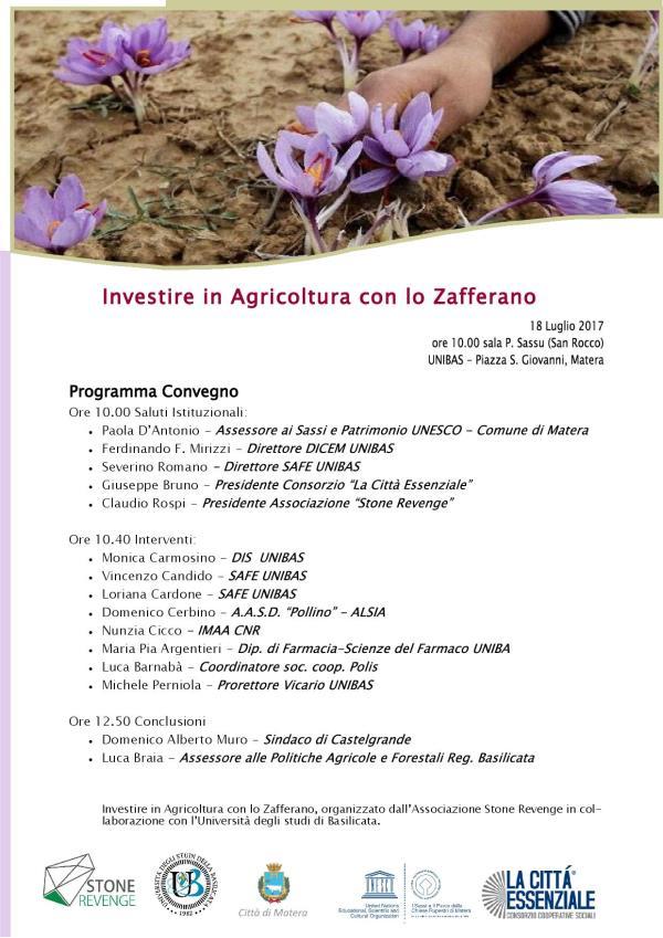 Investire in Agricoltura con lo Zafferano  - 18 Luglio 2017