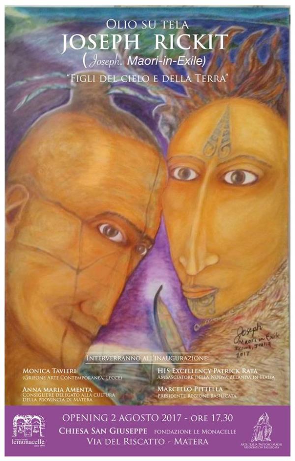 Joseph Maori in Exile - Opere Olio Su Tela