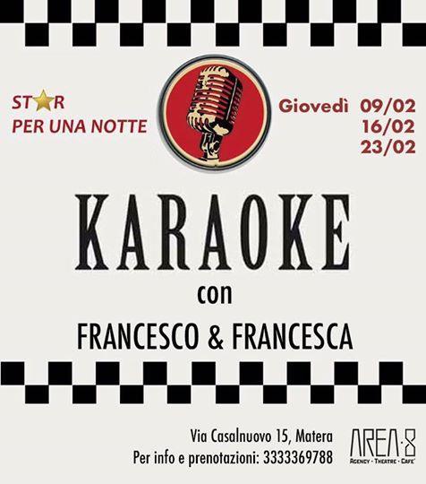 Karaoke con Francesca & Francesco