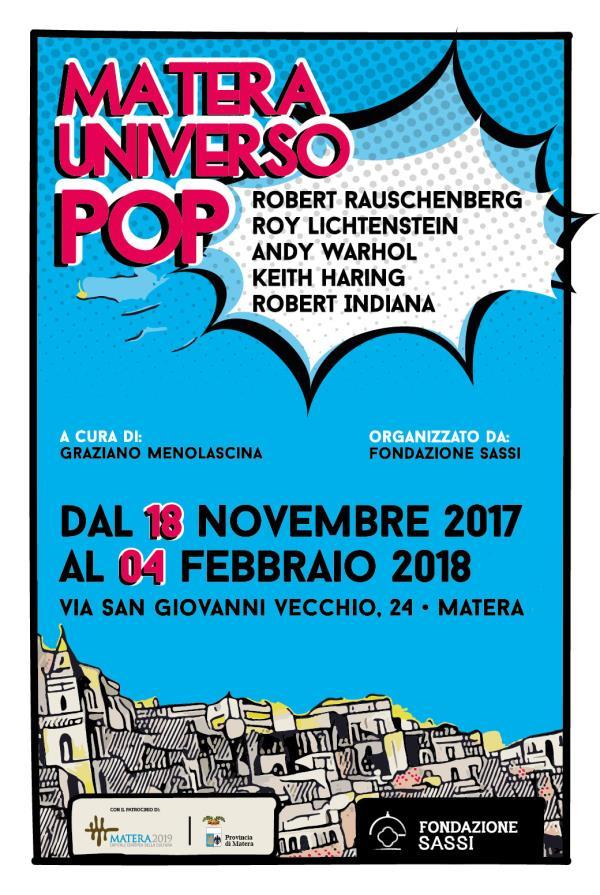 Matera Universo Pop - dal 18 novembre 2017 al 4 febbraio 2018