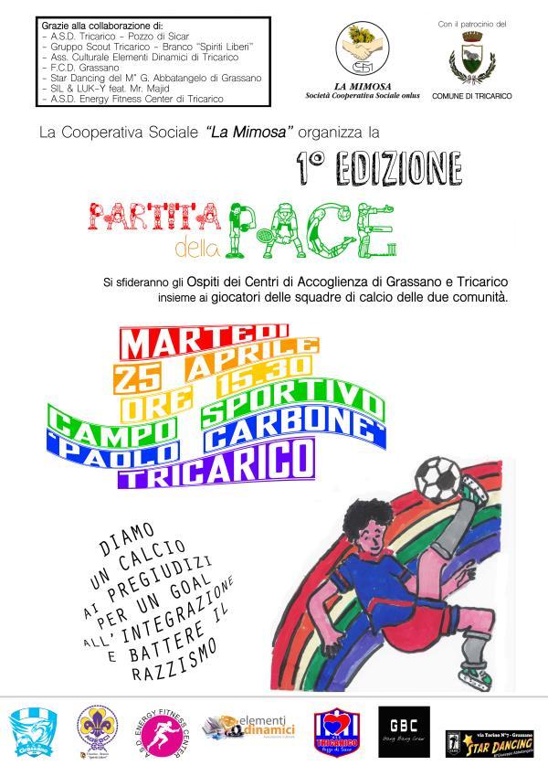 Partita della Pace - prima edizione - 25 Aprile 2017