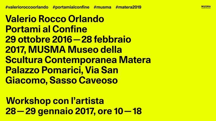 PORTAMI AL CONFINE – WORKSHOP CON VALERIO ROCCO ORLANDO