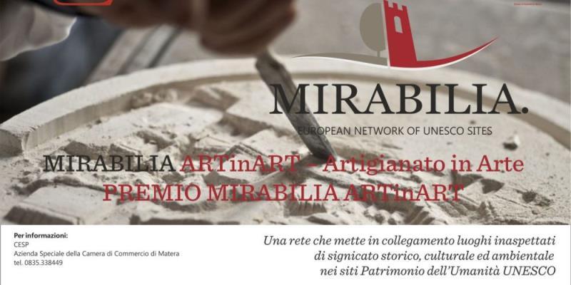 Premio nazionale Mirabilia ARTinART – Artigianato in Arte