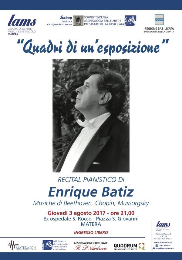 Quadri di un´esposizione recital pianistico del Maestro Enrique Bátìz