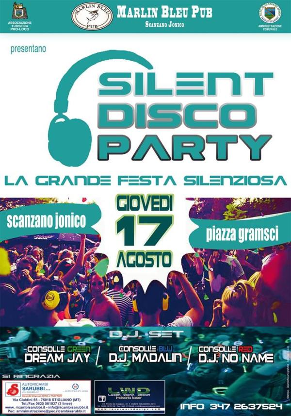 Silent disco party - 17 AGosto 2017