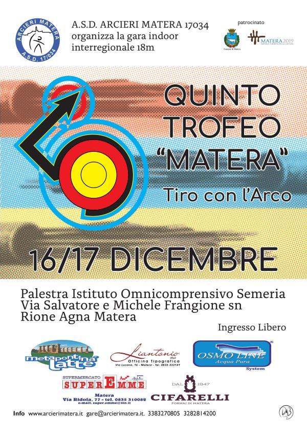 """Trofeo """"Matera"""" di tiro con l´arco 2017"""