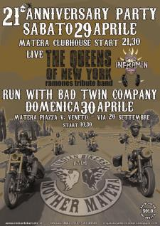 21° Anniversary Party - Run with Bad Twin Company  - Matera