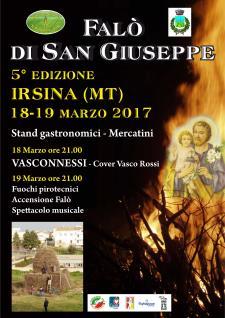 5° edizione del Falò di San Giuseppe  - 19 Marzo 2017 - Matera
