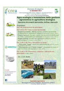 Agroecologia e innovazione della gestione agronomica in agricoltura biologica  - Matera