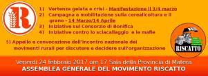 Assemblea del Movimento Riscatto  - Matera