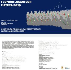 Assemblea regionale Anci per Matera2019  - Matera
