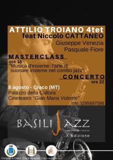 Attilio Troiano 4tet feat. Niccolò Cattaneo live  - 8 Agosto 2017 - Matera
