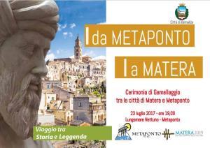 Cerimonia di gemellaggio tra le città di Matera e Metaponto - 23 Luglio 2017 - Matera