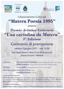 """Cerimonia di premiazione concorso """"Una cartolina da Matera""""  - Matera"""