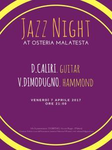 Concerti d'Osteria: DUE in JAZZ - 7 Aprile 2017 - Matera