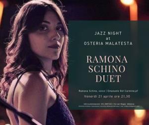 Concerti d'osteria: Ramona Schino Duet  - 20 Aprile 2017 - Matera