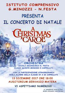 "CONCERTO DI NATALE ""A Christmas Carol"" - 13 dicembre 2017 - Matera"